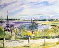 Hiddensee (Aquarell)