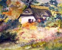 Hiddensee - Bauchhaus (Aquarell)