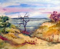 Hiddensee - Hohlweg (Aquarell)