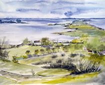 Hiddensee - Inselblick (Aquarell)