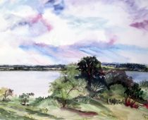 Hiddensee - Kloster (Aquarell)