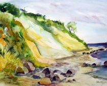 Hiddensee - Steilküste (Aquarell)