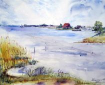 Hiddensee - Vitte (Aquarell)