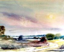 Hiddensee - Am Dornbusch (Aquarell)