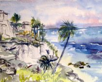 Mexico - Xel Ha (Aquarell)