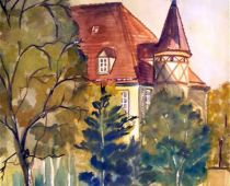Haus in Oschatz (Aquarell)