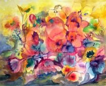 Sommerfeuer (Aquarell)