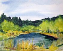 Trossin - am See (Aquarell)