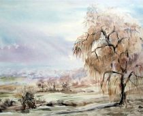 Winteridylle (Aquarell)