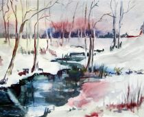 Winterlandschaft (Aquarell)
