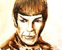 Star Wars Mr. Spock (nachempfunden) (Aquarell)